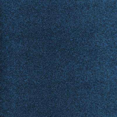 Dilour - Color Blue Texture 18 in. x 18 in. Carpet Tile (12 Tiles/Case)