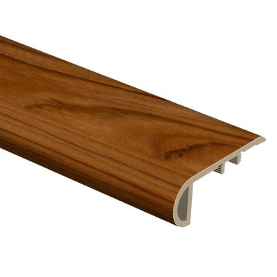 Teak 3/4 in. Thick x 2-1/8 in. Wide x 94 in. Length Vinyl Stair Nose Molding