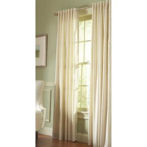 Martha Stewart Living Semi Opaque Hemp Faux Silk Back Tab Curtain 1611068    The Home Depot