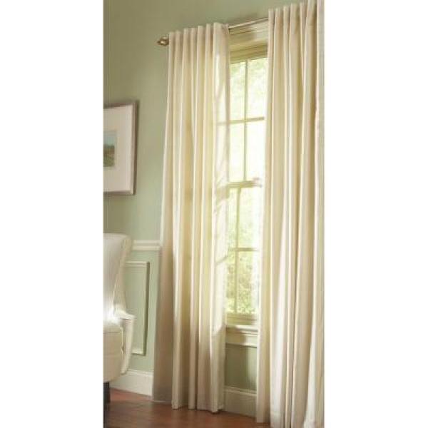 Martha Stewart Living Semi-Opaque Hemp Faux Silk Back Tab Curtain - 50 in. W x 108 in. L