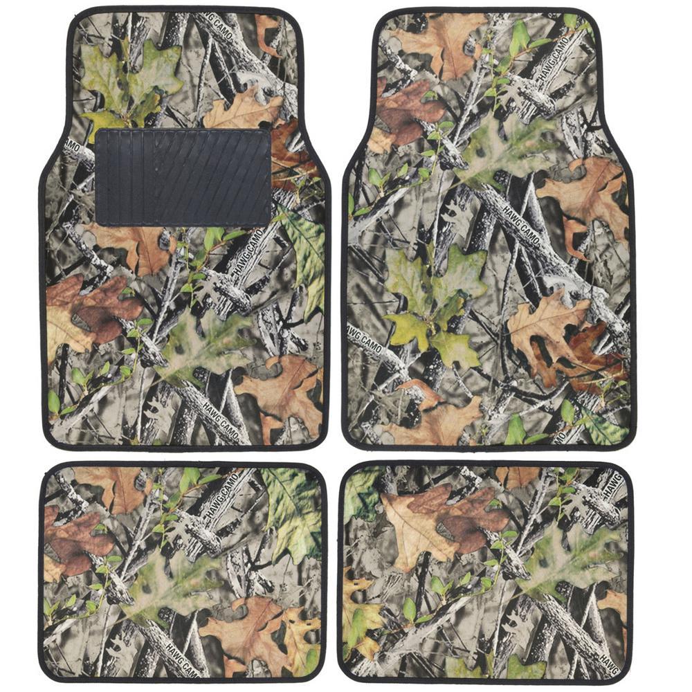 BDK Hawg Camouflage MT-703 Camo 4-Piece Car Floor Mats-MT