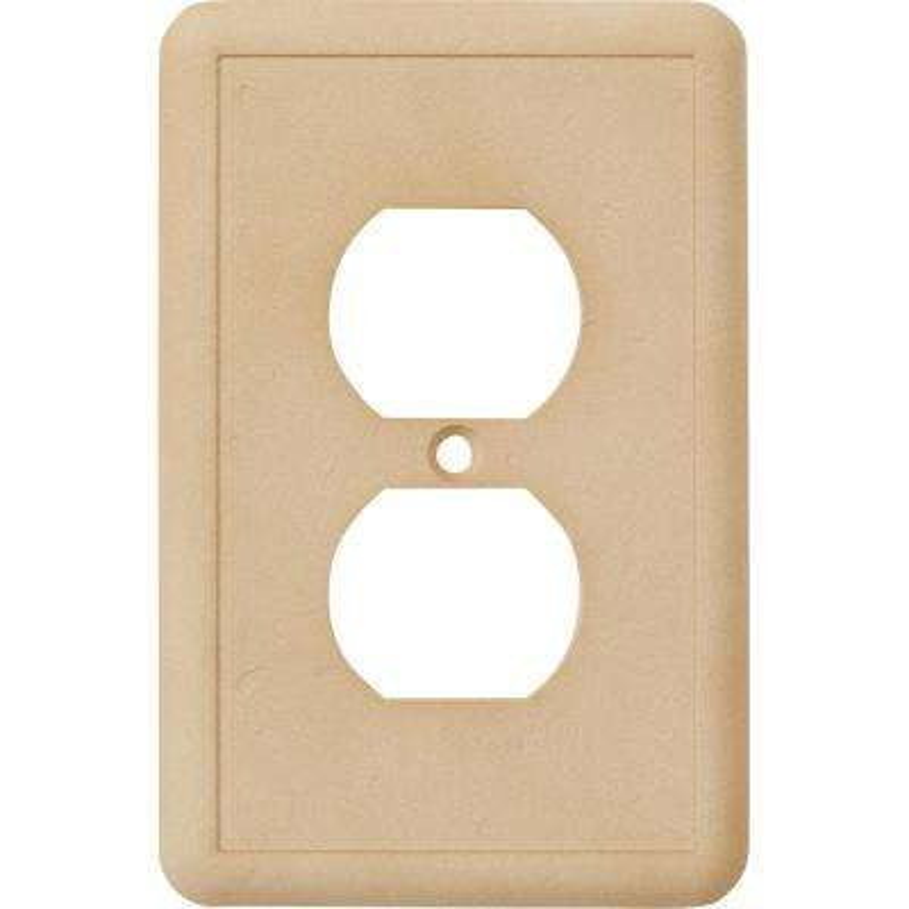 1-Duplex Outlet Plate, Travertine
