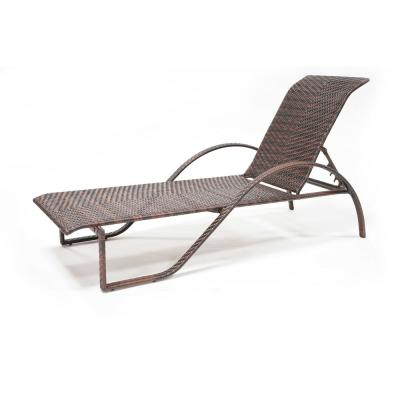 Regal Spring Chocolate Wicker Aluminum Outdoor Chaise Lounge
