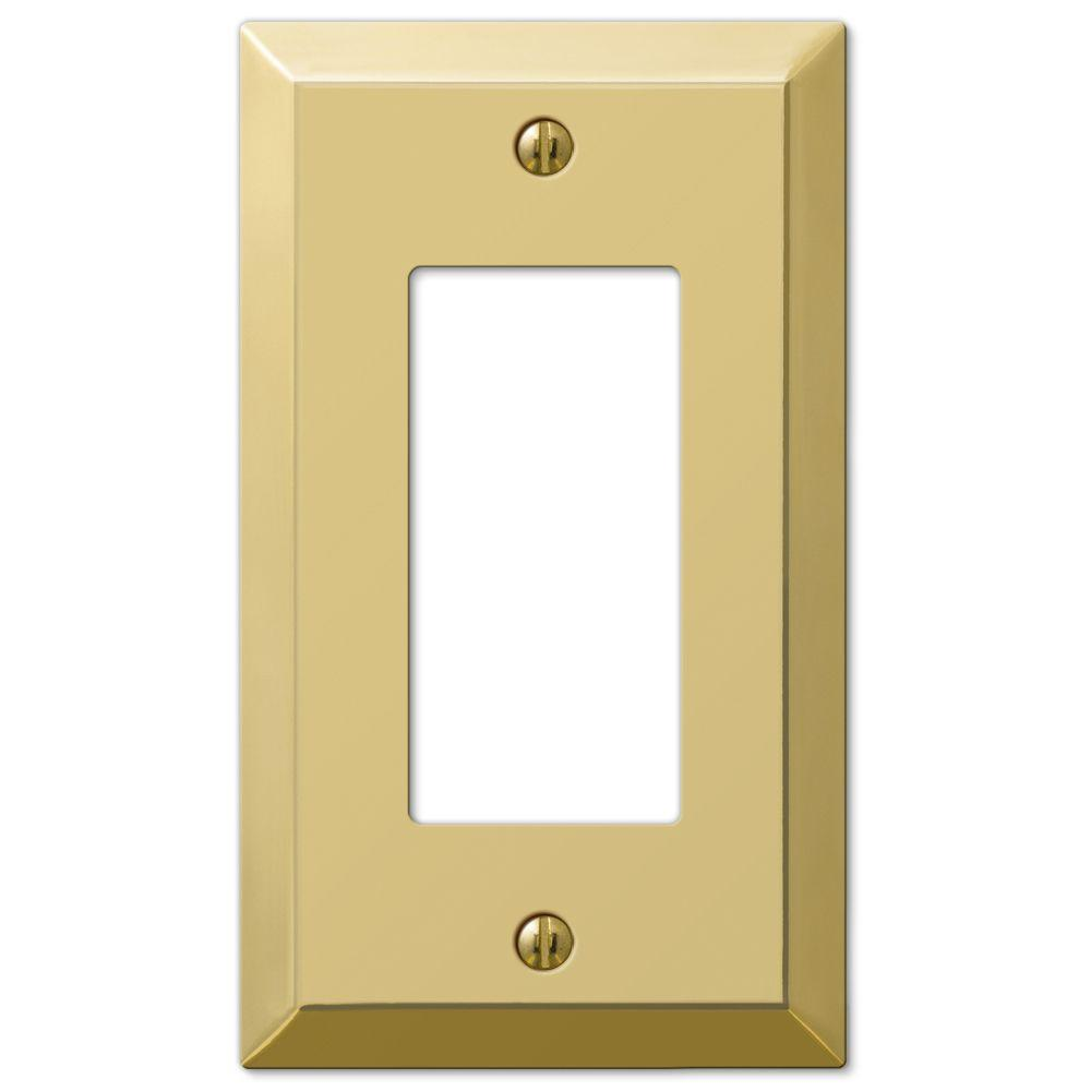 Brass Light Switch Covers Cool Brass  Switch Plates  Wall Plates  The Home Depot Inspiration