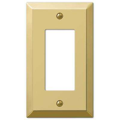 Metallic 1 Rocker Wall Plate - Polished Brass Steel