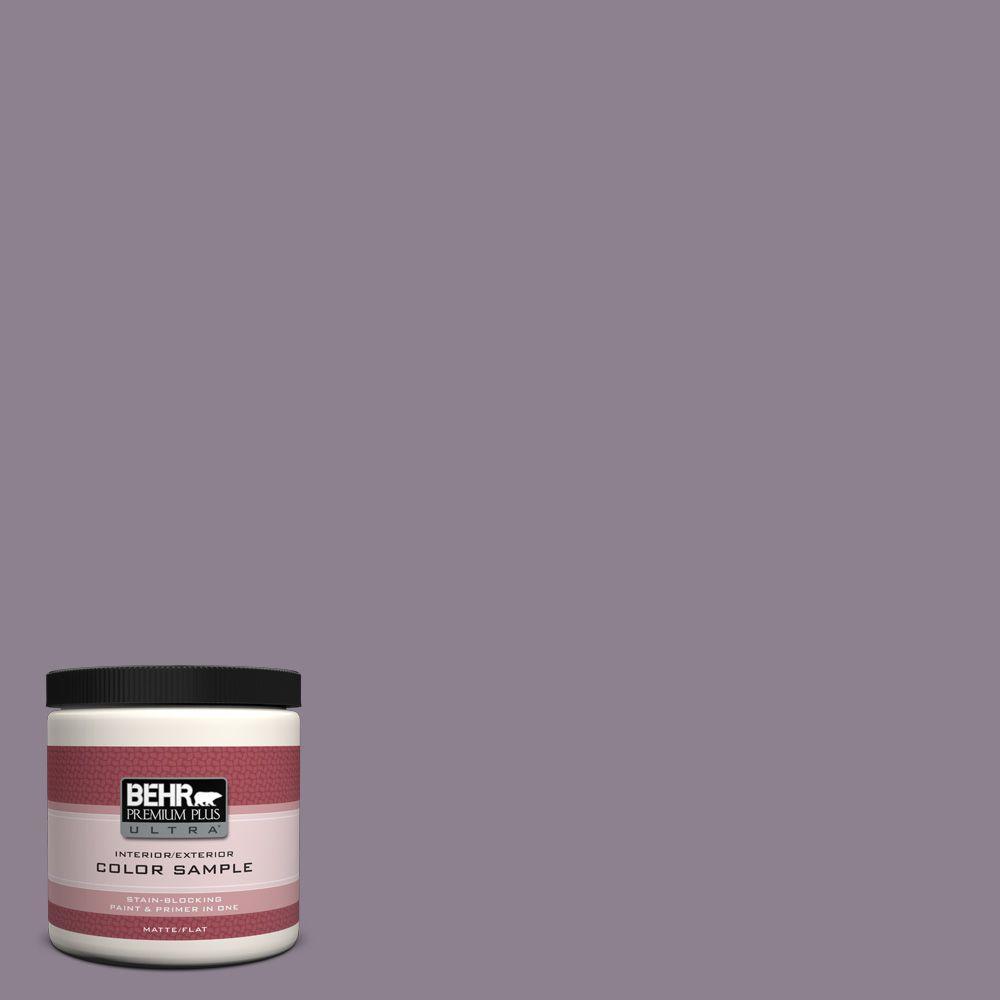 BEHR Premium Plus Ultra 8 oz. #670F-5 Gothic Amethyst Interior/Exterior Paint Sample