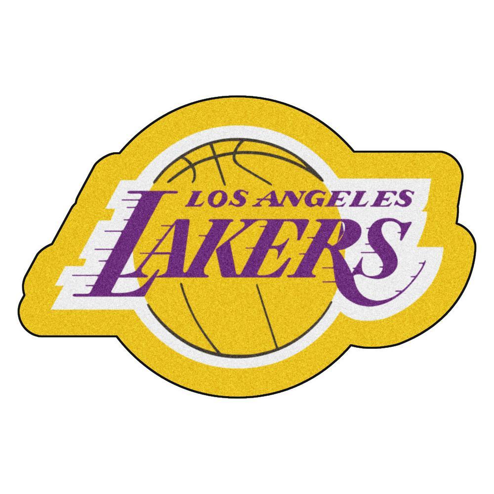 NBA - Los Angeles Lakers Mascot Mat 36 in.   x  23.8 in.  Indoor Area Rug