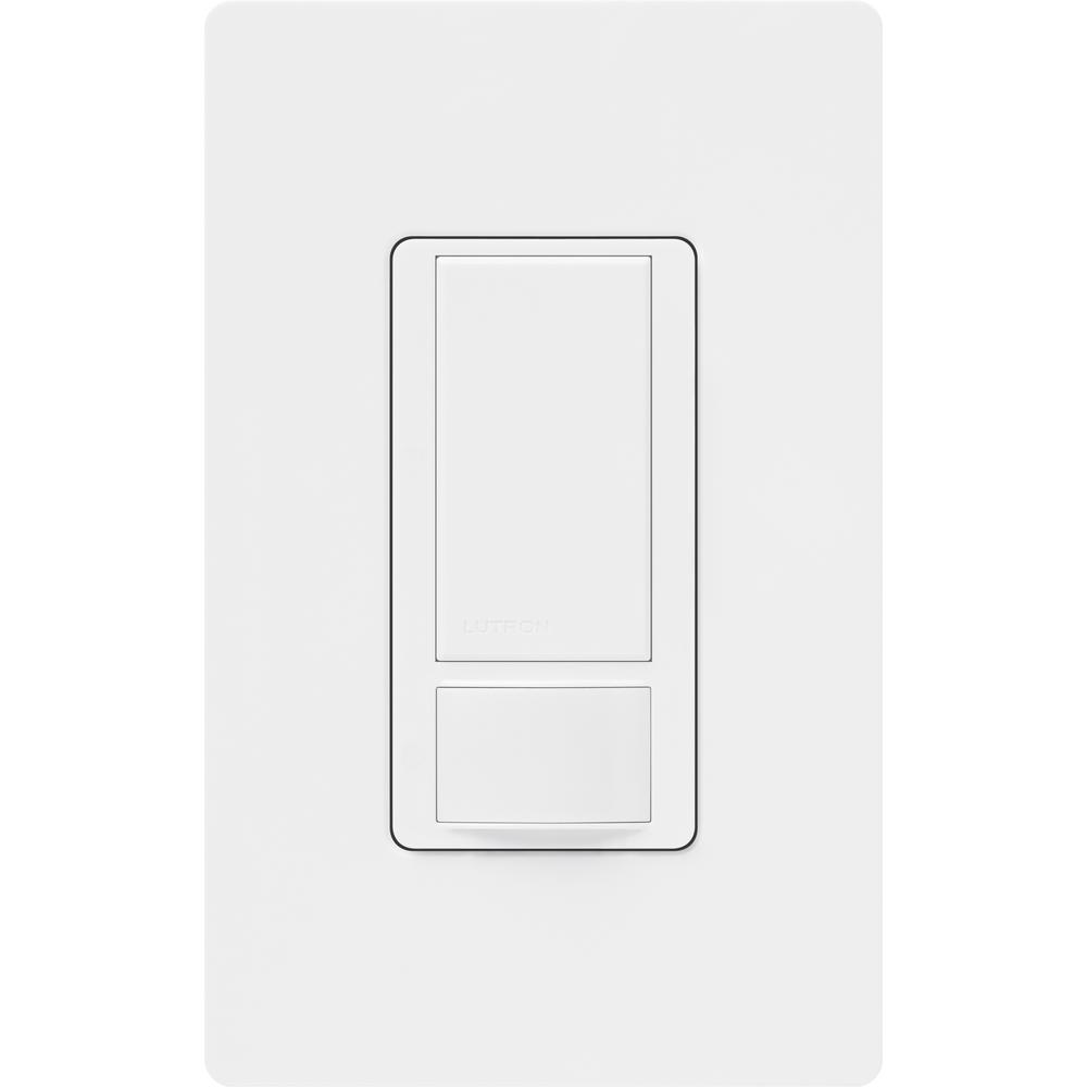 Lutron Maestro Motion Sensor switch with Wallplate, 5 Amp, Single-Pole, White