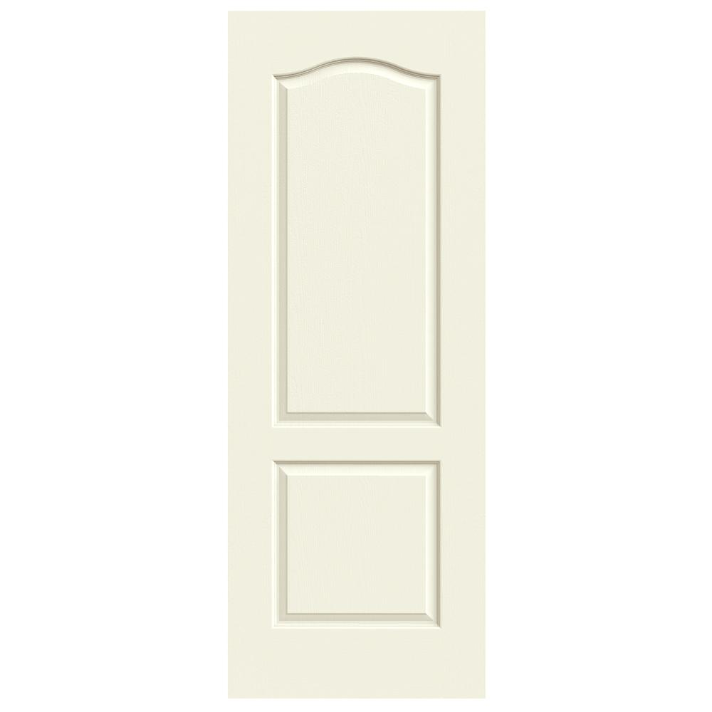 24 in. x 80 in. Princeton Vanilla Painted Smooth Solid Core