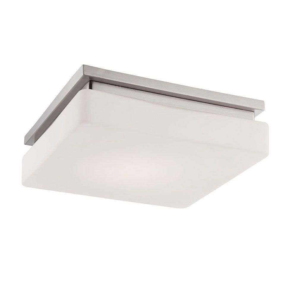 Ellsworth Collection 1-Light Satin Nickel LED Flushmount