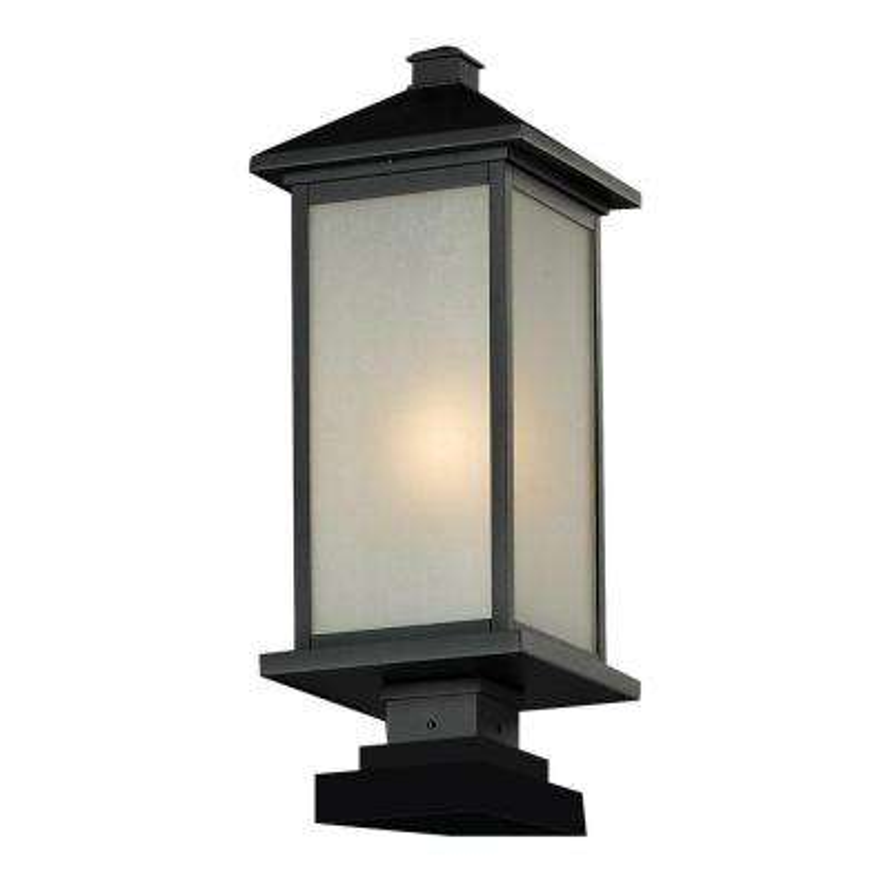 Lawrence 1-Light Black Incandescent Outdoor Pier Mount Light