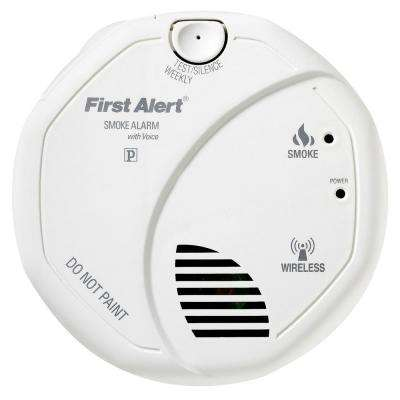 Wireless Interconnect Battery Operated Smoke Detector with Voice Alarm