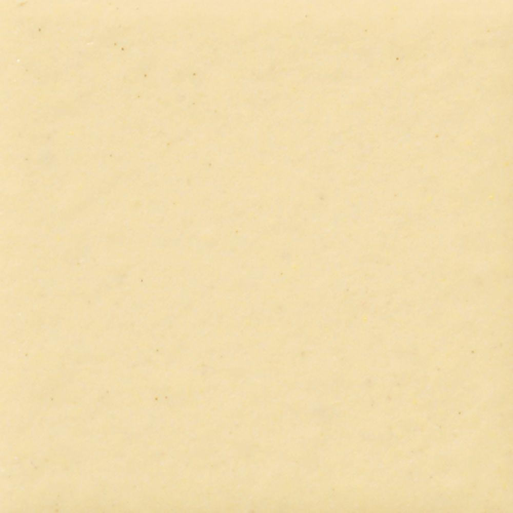 Daltile Semi-Gloss Cornsilk 4-1/4 in. x 4-1/4 in. Ceramic Wall Tile ...