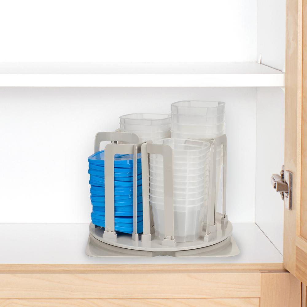 Chef Buddy Food Storage Organizer with Swirl Around (49-Piece)  sc 1 st  Home Depot & Chef Buddy Food Storage Organizer with Swirl Around (49-Piece ...