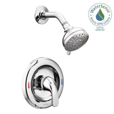 Adler 1-Handle 1-Spray Shower Faucet with Valve in Chrome (Valve Included)