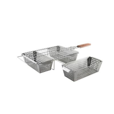 Stainless 3-Compartment Basket