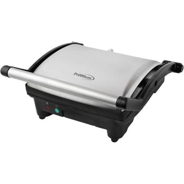 Large Electric Panini Press 1400 Watts Kitchen Grill Sandwich Toaster Silver