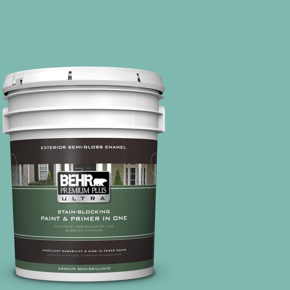 5-gal. #490D-5 Winter Surf Semi-Gloss Enamel Exterior Paint