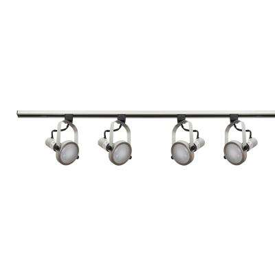 4 ft. 4-Light Nickel Track Lighting Kit