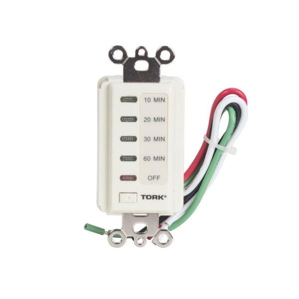 10/20/30/60 Minute 15 Amp 120-Volt Indoor Electronic Wall Switch TImer, Light Almond