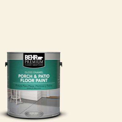 1 gal. #PWN-12 Palatial White Gloss Interior/Exterior Porch and Patio Floor Paint