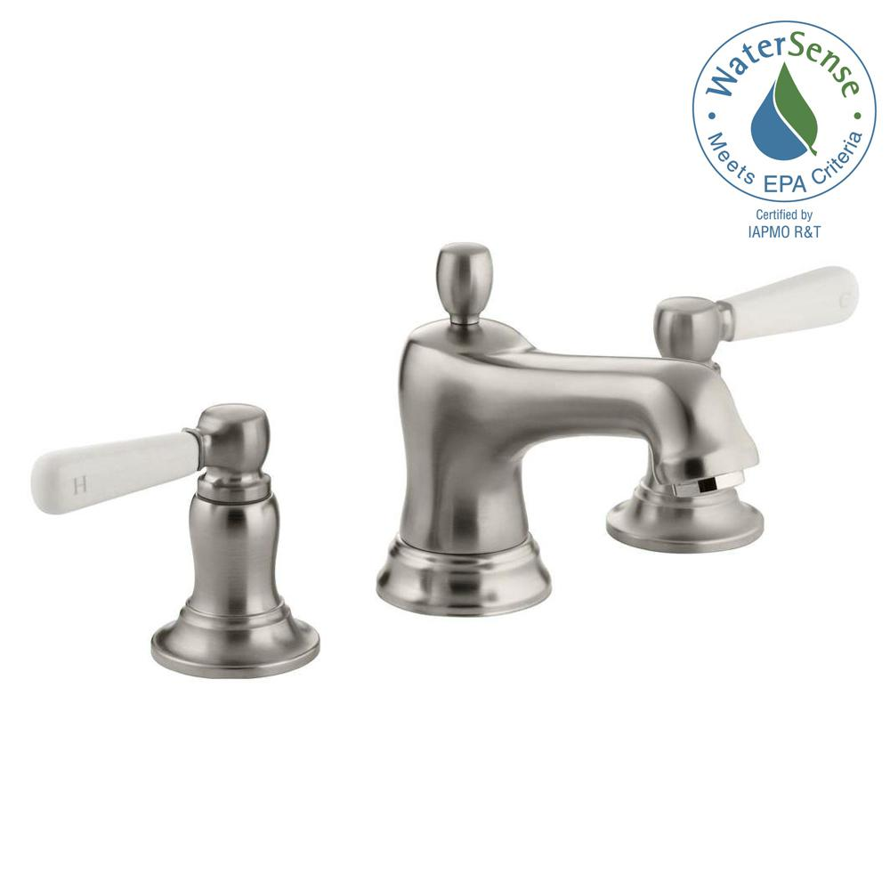 Bancroft 8 in. Widespread 2-Handle Low-Arc Water-Saving Bathroom Faucet in