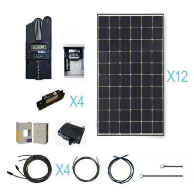 3600-Watt 48-Volt Monocrystalline Solar Cabin Kit for Off-Grid Solar System