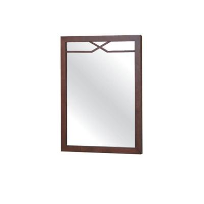Bombay 30 in. H x 24 in. W Wall Mirror in American Walnut