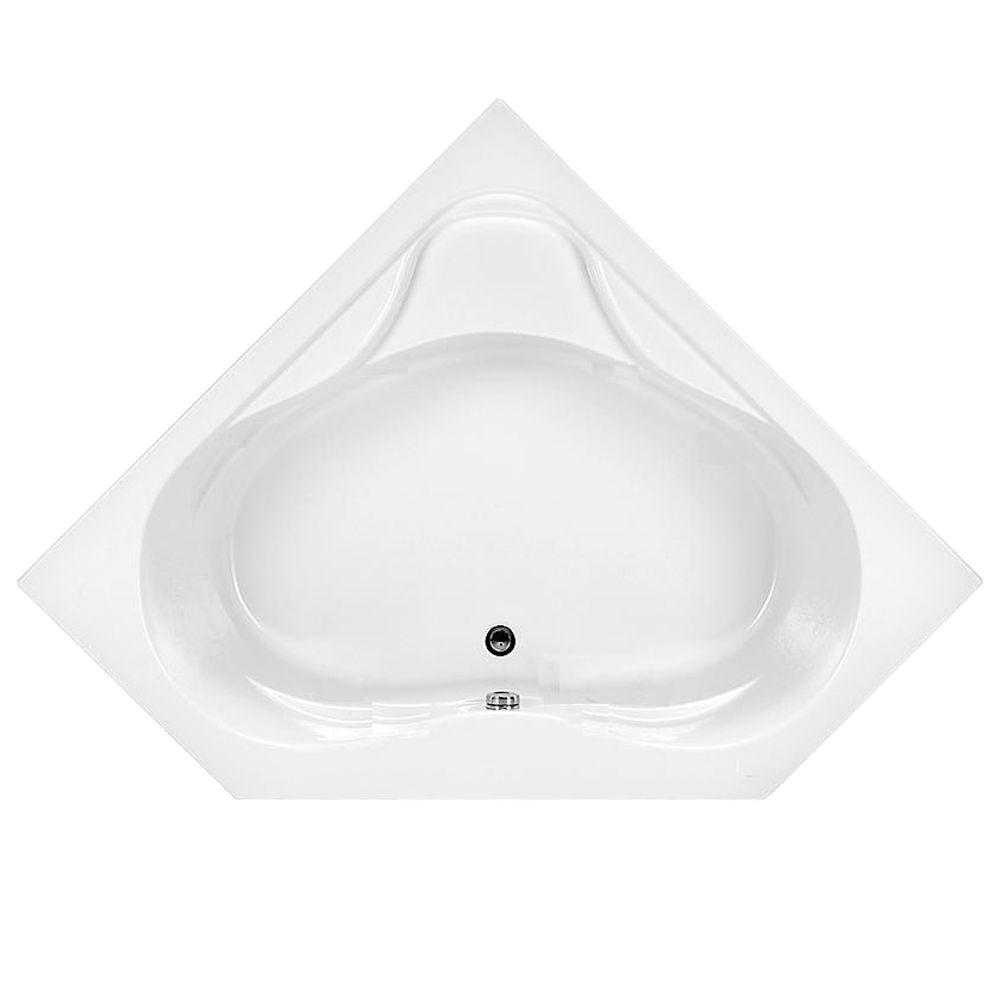 American Standard Colony 5 ft. x 60 in. Center Drain Corner Soaking ...
