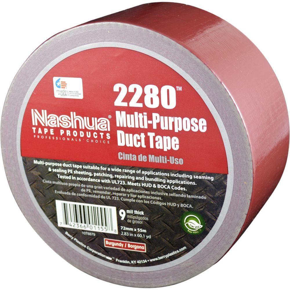 Nashua Tape 2.83 in. x 60.1 yds. 2280 Multi-Purpose Duct Tape in Burgundy
