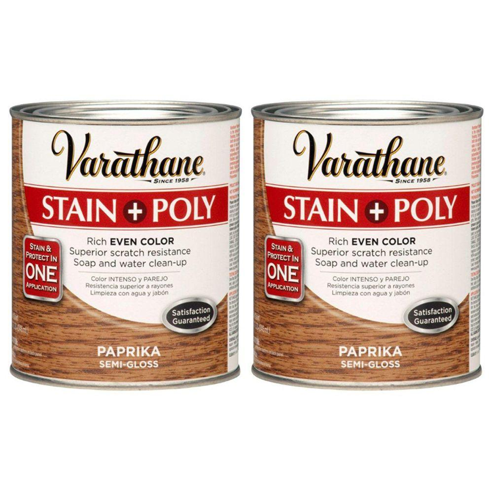 Varathane 1 Qt. Paprika Wood Stain and Polyurethane (2-Pack)-DISCONTINUED