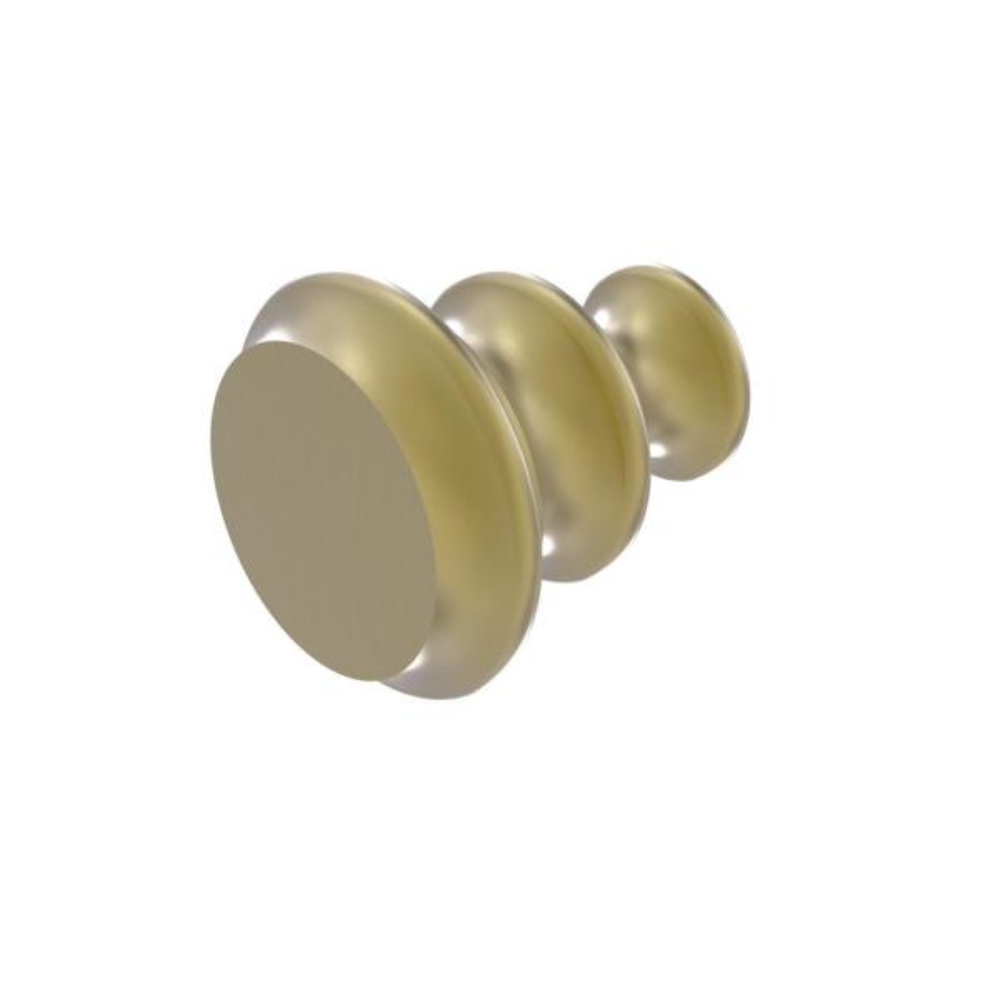 Designer Cabinet Knob in Satin Brass