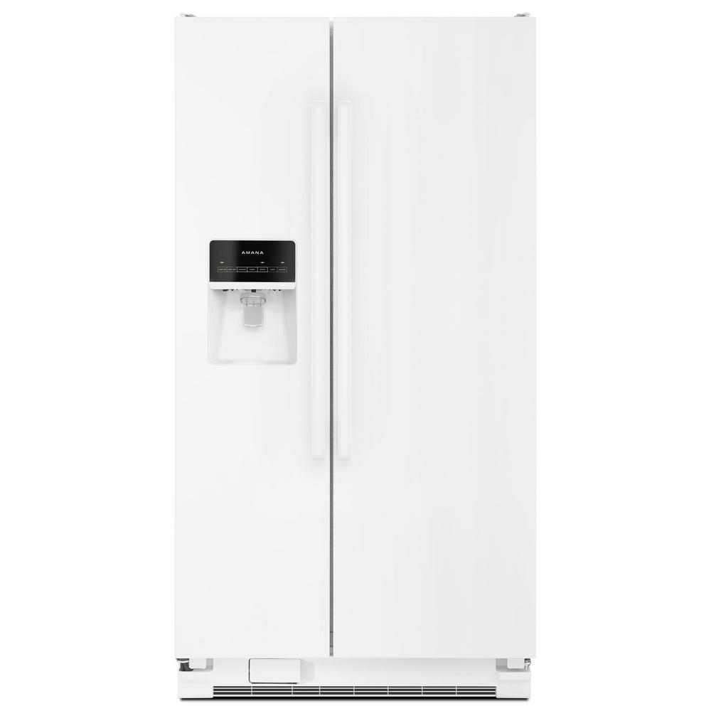 Amana 24.49 cu. ft. Side By Side Refrigerator in White