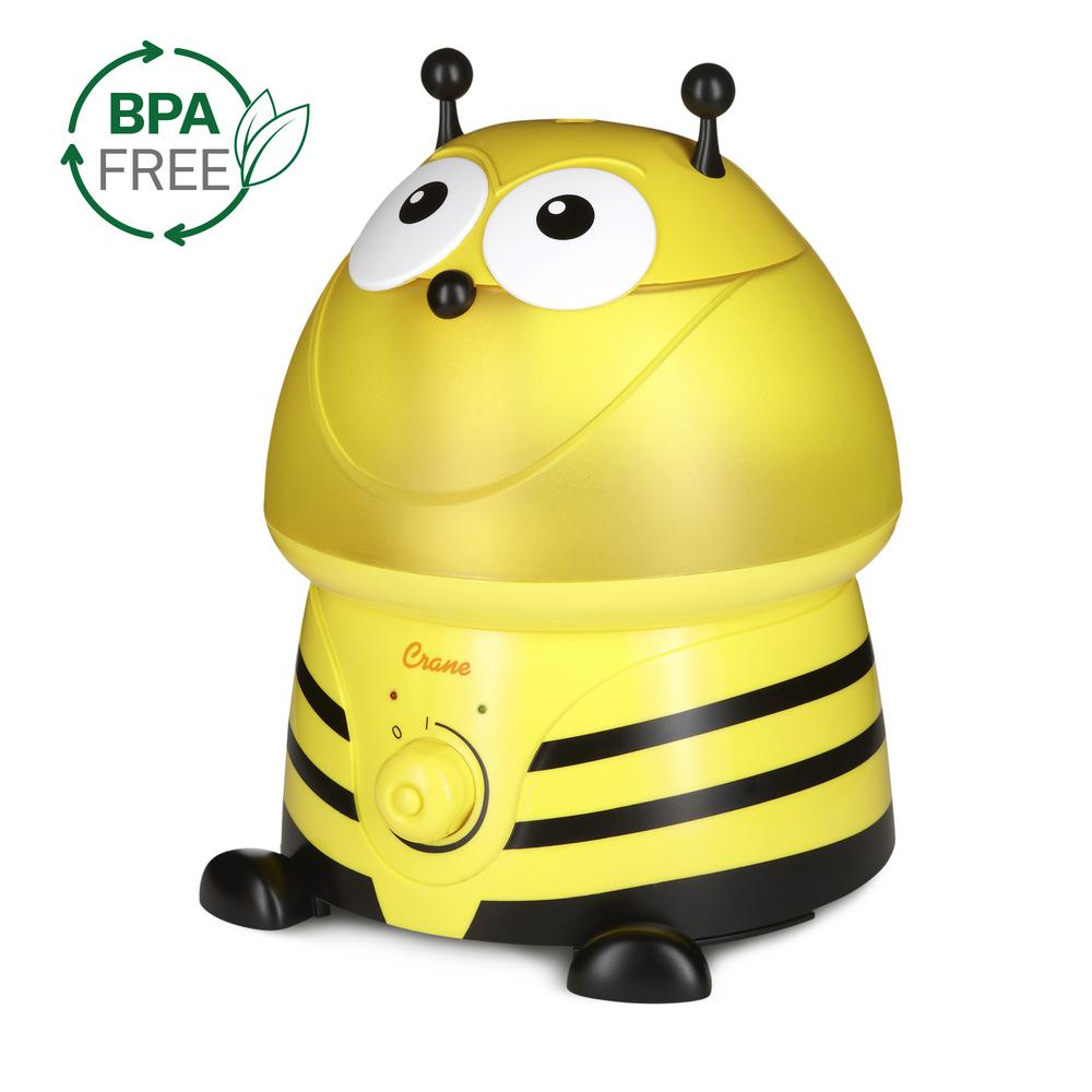 Crane Adorable Ultrasonic Cool Mist Humidifier In Bumble Bee With