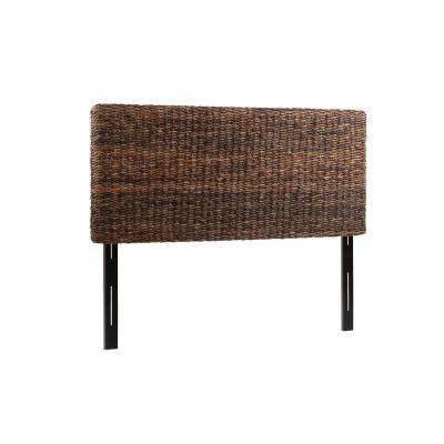 Jakarta Handwoven Banana Leaf Brown Queen Headboard