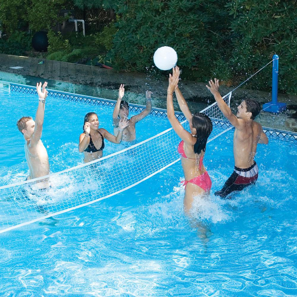 Swimline Cross-Pool Water Volleyball Game, Multi was $51.41 now $34.25 (33.0% off)