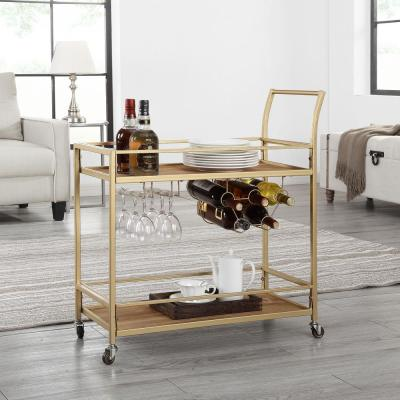 Francesca Gold Bar Cart