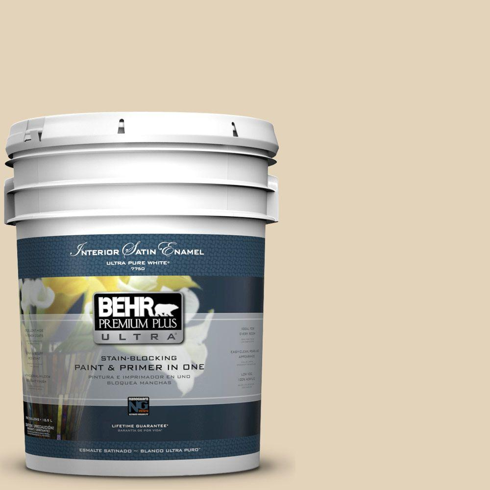 5-gal. #BXC-50 Stucco White Satin Enamel Interior Paint