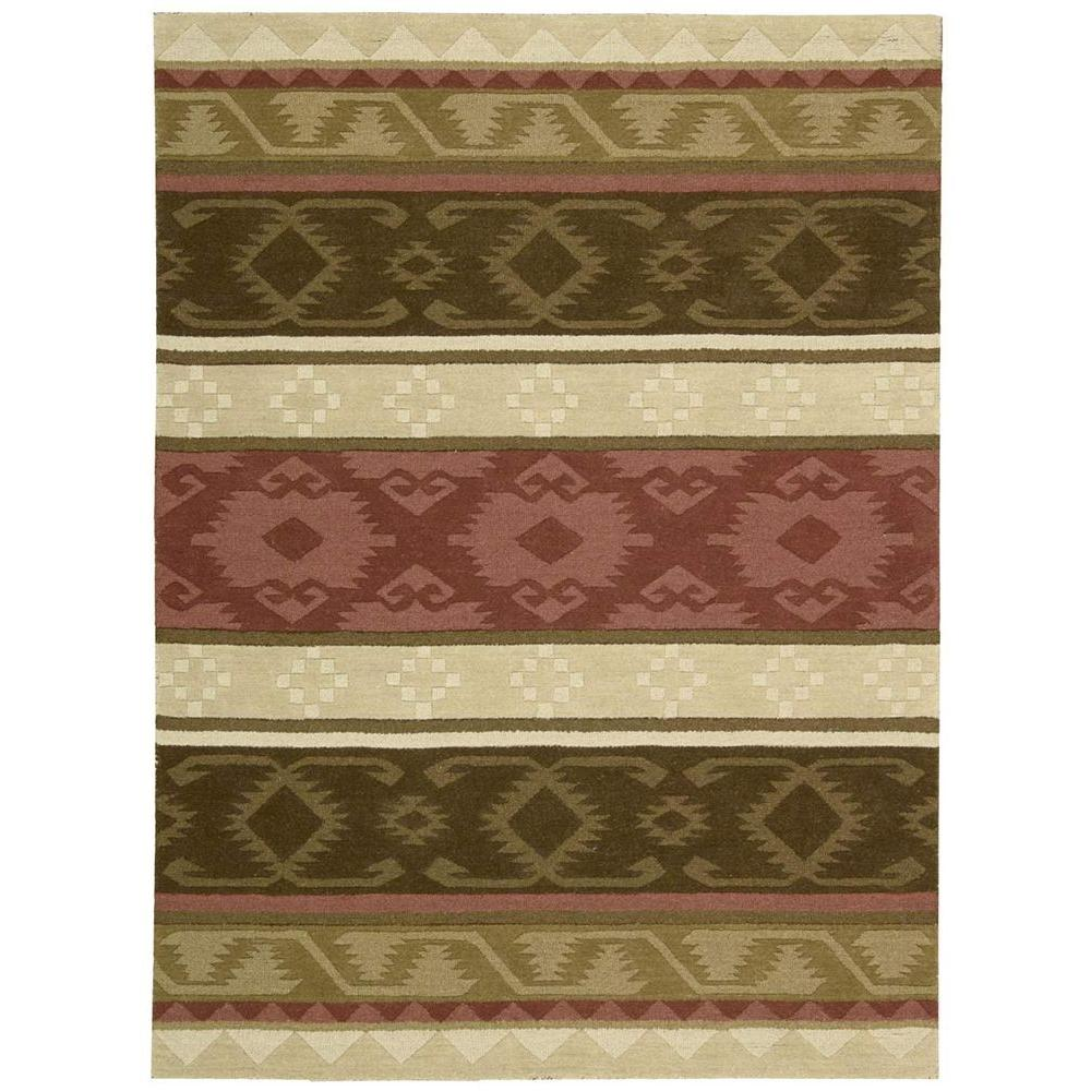 Nourison India House Espresso 3 ft. 6 in. x 5 ft. 6 in. Area Rug