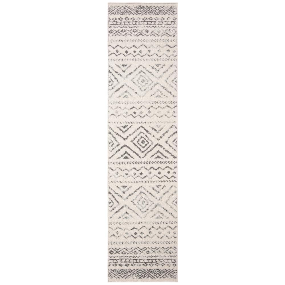 Tulum Ivory/Gray 2 ft. x 13 ft. Runner Rug