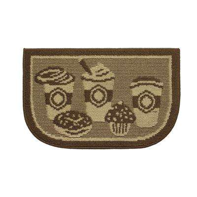 Coffee Rush 18 in. x 30 in. Kitchen Rug