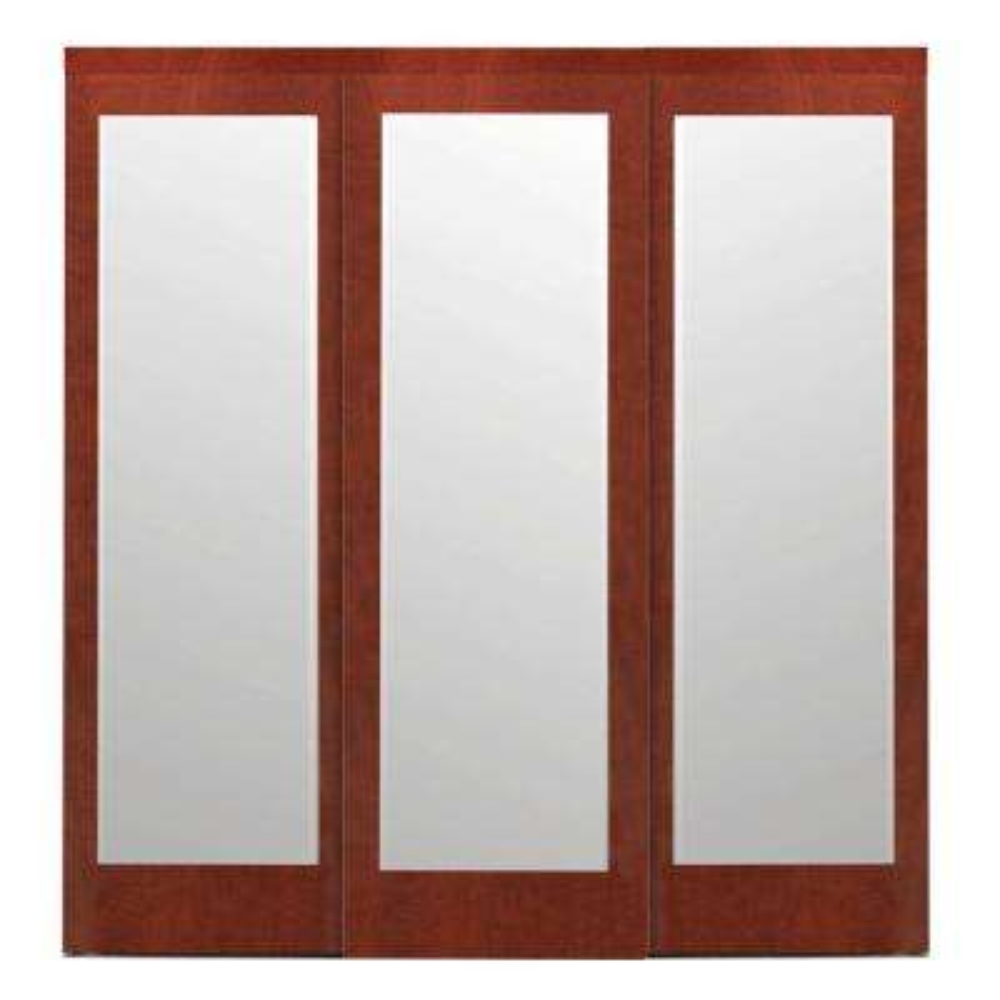 Mir Mel Espresso Mirror Matching Trim Solid MDF Interior Sliding Door