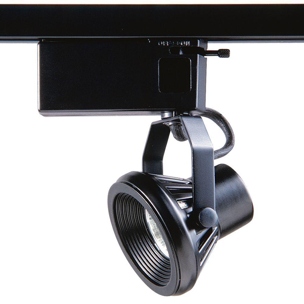 1401 Series Low-Voltage MR16 Black Track Lighting Fixture