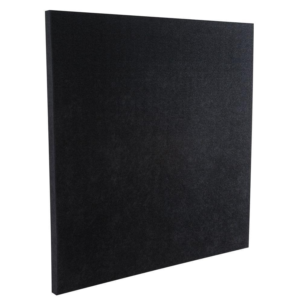 Acoustic Insulation Home Depot : Auralex ft w l in h sonolite panel black