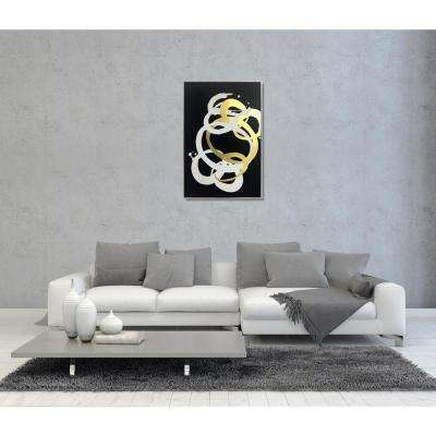 45 in. H x 30 in. W 'Formas Inverse Gold' by Wynwood Studio Printed Framed Canvas Wall Art