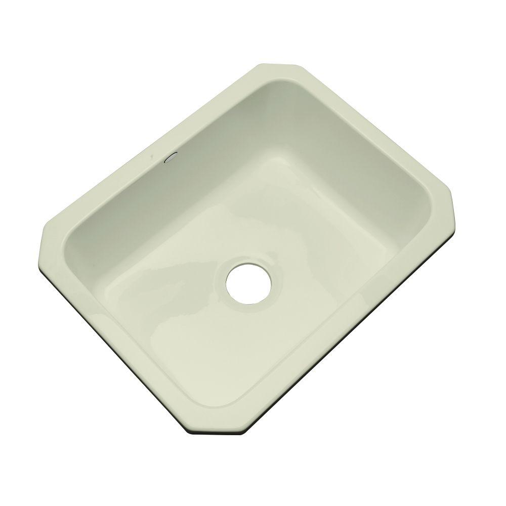 Inverness Undermount Acrylic 25 in. Single Bowl Kitchen Sink in Jersey