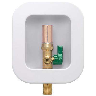 Ice Maker Box with 1/2 in. Sweat x 1/2 in. MIP Brass Valve with Water Hammer Arrestor