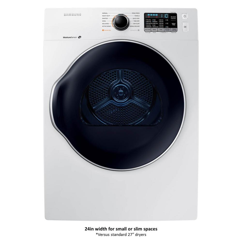 Samsung 24 in. 4.0 cu. ft. Electric Vented Dryer in White