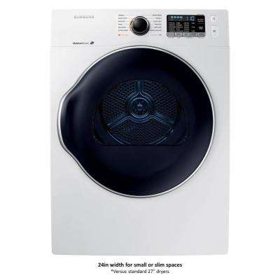 24 in. 4.0 cu. ft. Electric Vented Dryer in White