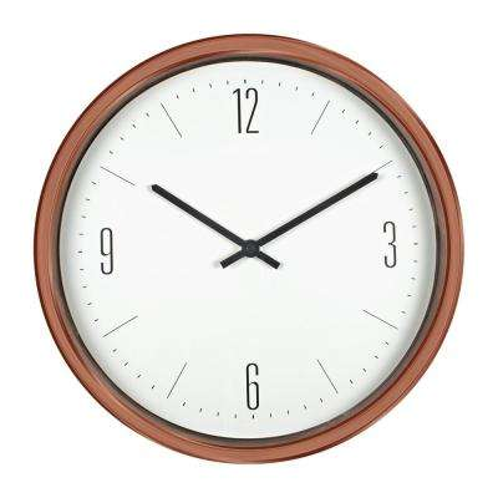 16 in. Bronze Contemporary Clock